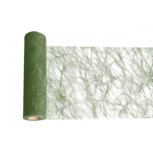 Dekorační stuha flísová stolní TMAVĚ ZELENÁ šířka 300 mm