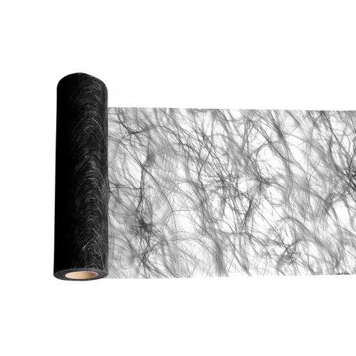 Dekorační stuha flísová stolní ČERNÁ šířka 300 mm