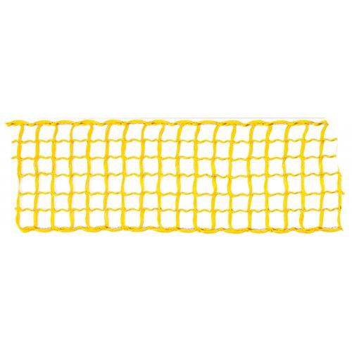 Dekorační stuha mřížka ŽLUTÁ šířka 40 mm