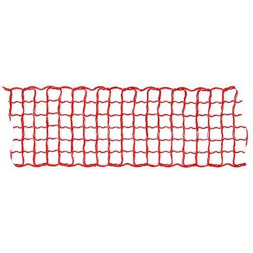 Dekorační stuha mřížka ČERVENÁ šířka 40 mm