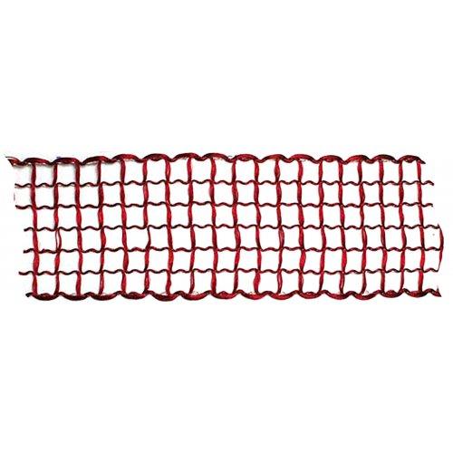 Dekorační stuha mřížka TMAVĚ ČERVENÁ šířka 40 mm