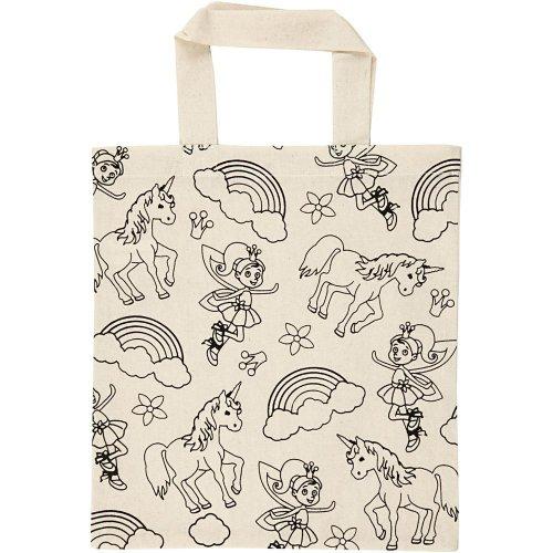 Nákupní taška dětská textil - JEDNOROŽEC A VÍLA - CC499642.jpg