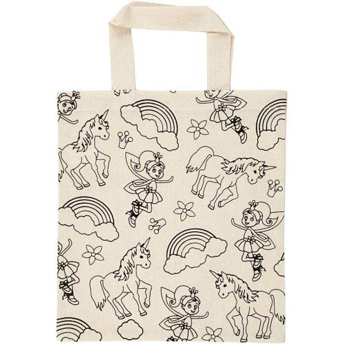 Nákupní taška dětská textil - JEDNOROŽEC A VÍLA