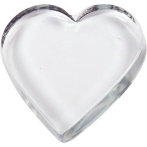 Skleněné srdce k dotvoření 9 cm x 9 cm x 0,15 cm