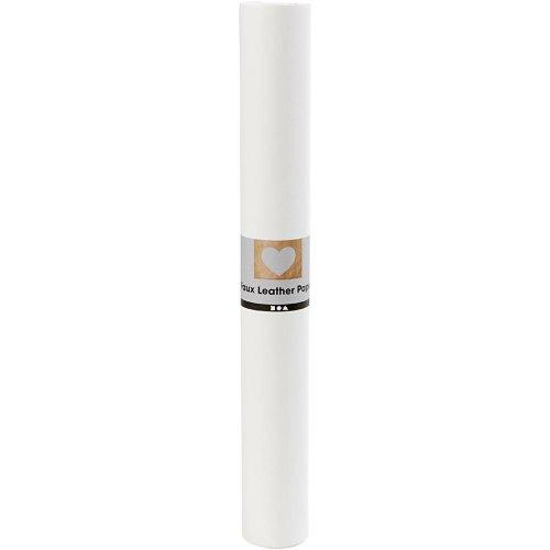 Papírová imitace kůže, šířka 50 cm, tloušťka 0,55 mm - bílá 1 m - CC498945_a.jpg