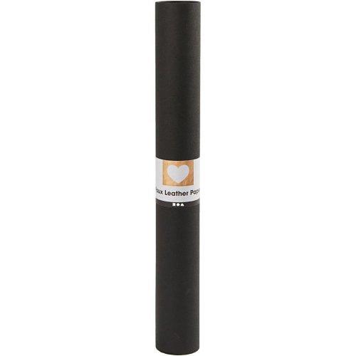 Papírová imitace kůže, šířka 50 cm, tloušťka 0,55 mm - černá 1 m - CC498944_2.jpg