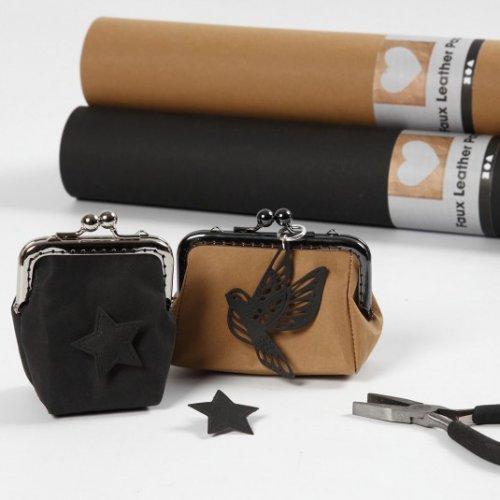 Papírová imitace kůže, šířka 50 cm, tloušťka 0,55 mm - černá 1 m - CC_KUZOPAPIR_IMG01.jpg