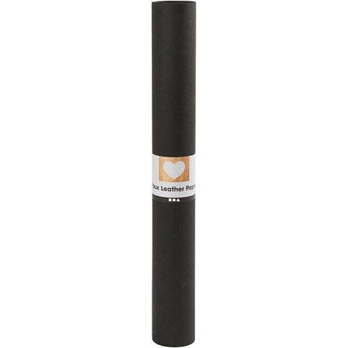 Papírová imitace kůže, šířka 50 cm, tloušťka 0,55 mm - černá 1 m - CC498944_a.jpg