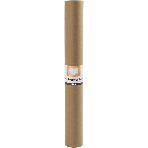 Papírová imitace kůže, šířka 50 cm, tloušťka 0,55 mm - hnědá 1 m - CC498943_a.jpg