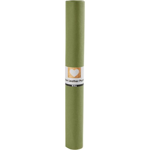 Papírová imitace kůže, šířka 50 cm, tloušťka 0,55 mm - zelená 1 m - CC498941_a.jpg