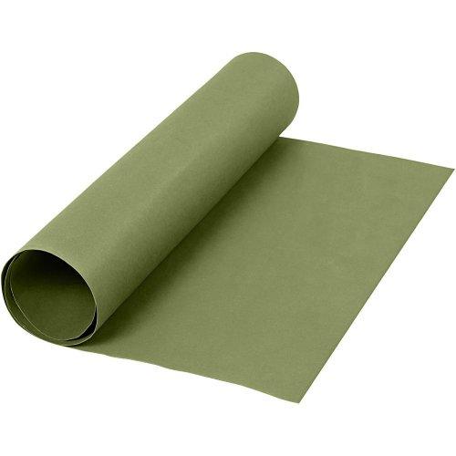 Papírová imitace kůže, šířka 50 cm, tloušťka 0,55 mm - zelená 1 m