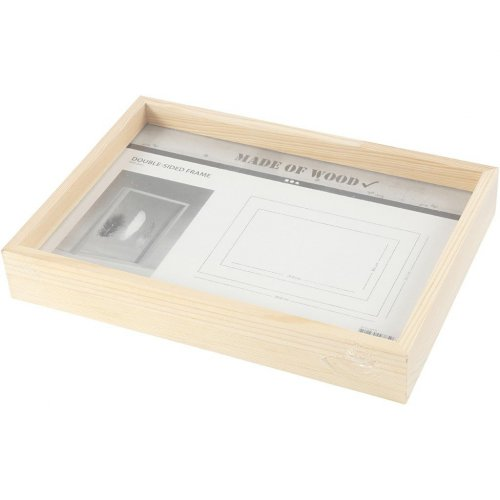 Rámeček na obrázek dvojitý dřevo A4 hloubka 4,5 cm - 56128_3.jpg
