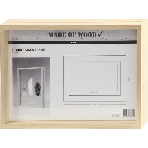 Rámeček na obrázek dvojitý dřevo A4 hloubka 4,5 cm - CC56128.jpg