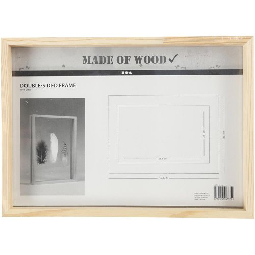 Rámeček na obrázek dvojitý dřevo A4 hloubka 4,5 cm - CC56128_a.jpg