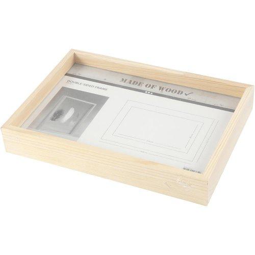 Rámeček na obrázek dvojitý dřevo A4 hloubka 4,5 cm - CC56128_b.jpg