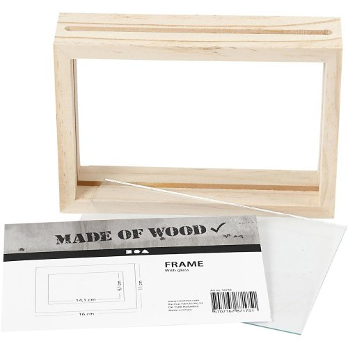 Rámeček na obrázek dvojitý dřevo 16 cm x 11 cm hloubka 4,5 cm - CC56748_b.jpg