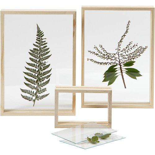 Rámeček na obrázek dvojitý dřevo 16 cm x 11 cm hloubka 4,5 cm - CC56748_c.jpg