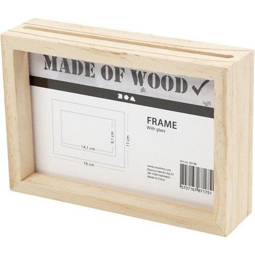 Rámeček na obrázek dvojitý dřevo 16 cm x 11 cm hloubka 4,5 cm - 56748_2.jpg