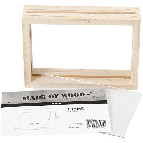 Rámeček na obrázek dvojitý dřevo 16 cm x 11 cm hloubka 4,5 cm - 56748_5.jpg