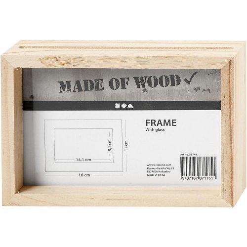 Rámeček na obrázek dvojitý dřevo 16 cm x 11 cm hloubka 4,5 cm - CC56748.jpg
