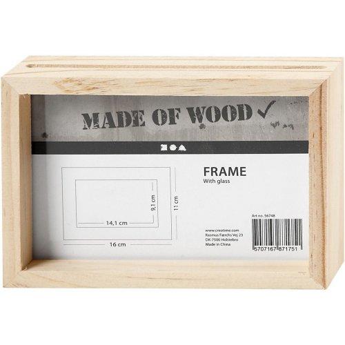 Rámeček na obrázek dvojitý dřevo 16 cm x 11 cm hloubka 4,5 cm