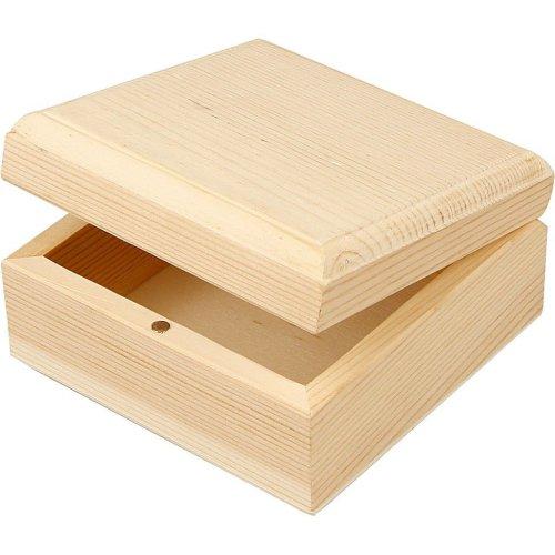 Dřevěná šperkovnička k dotvoření 9 x 9 x 5 cm