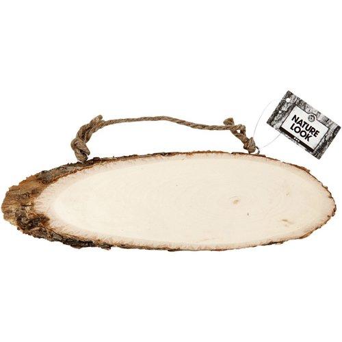 Dřevěné plátky s kůrou a šňůrou pro zavěšení - označení dveří - 577740_2.jpg