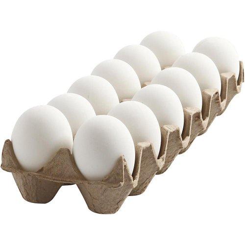 Plastové vajíčko bílé - 12 kusů v balení - CC51024.jpg