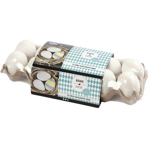 Plastové vajíčko bílé - 12 kusů v balení - 51024_2.jpg