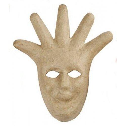 Papírová maska k dotvoření - varianta E