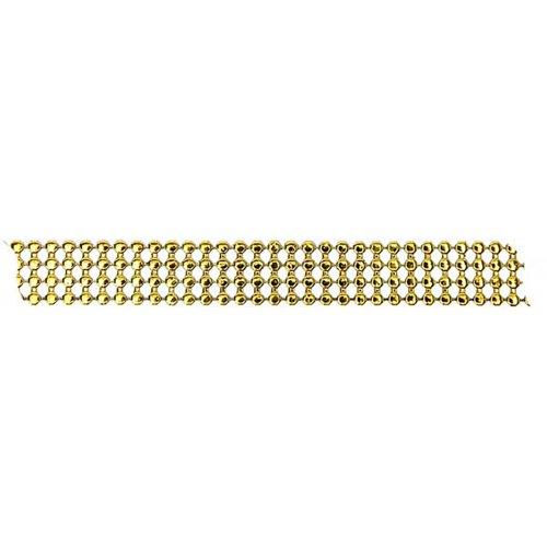 Dekorační pásek s drahokamy šířka 13 mm ČTYŘI ŘADY ZLATÁ