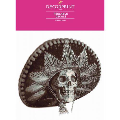 Obtisk na porcelán a sklo - MEXICKÁ SMRTKA - 20x20 cm