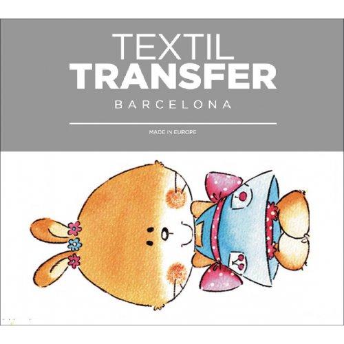 Obtisk na textil - LA PETIT - 10x5 cm