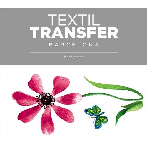Obtisk na textil - MOTÝL - 10x5 cm