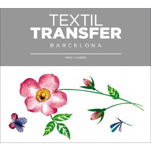 Obtisk na textil - KVĚTINA - 10x5 cm