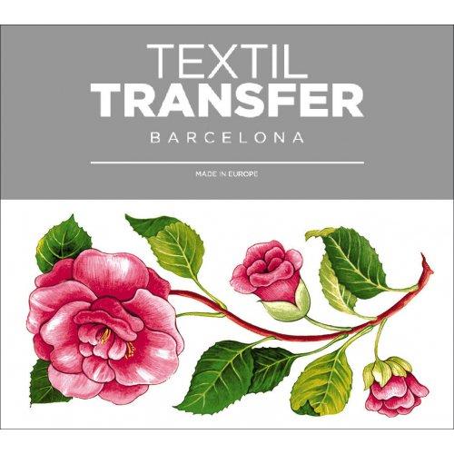 Obtisk na textil - PIVOŇKA - 10x5 cm