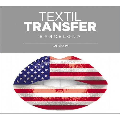 Obtisk na textil - I LOVE USA - 10x5 cm