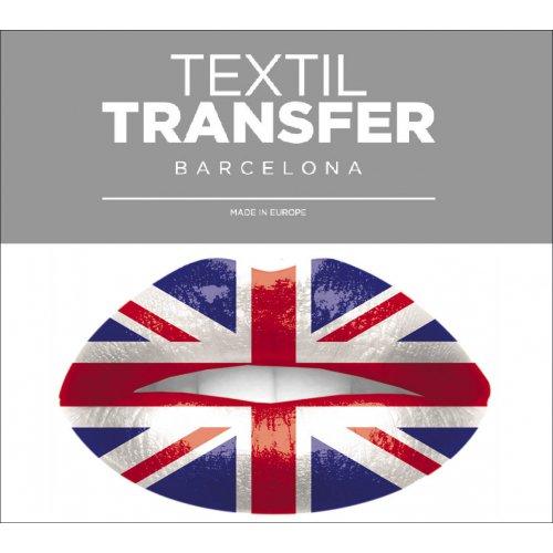 Obtisk na textil - I LOVE ENGLAND - 10x5 cm
