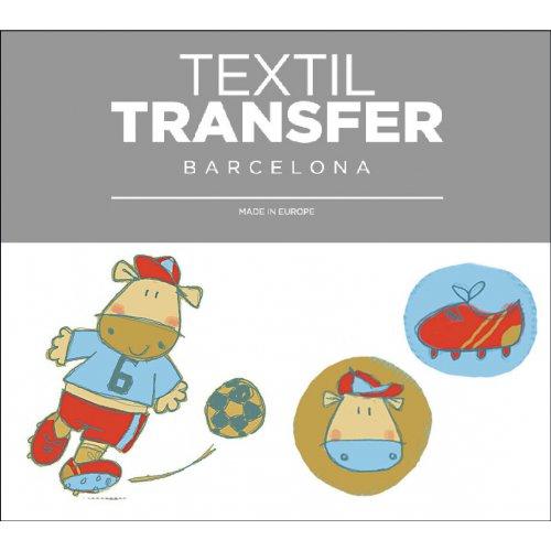 Obtisk na textil - FOTBAL - 10x5 cm