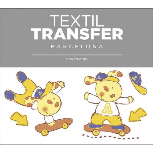 Obtisk na textil - SURF - 10x5 cm