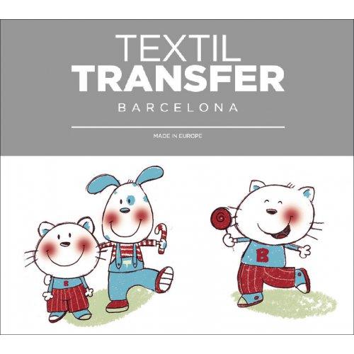 Obtisk na textil - TOM & BOB - 10x5 cm