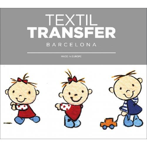 Obtisk na textil - I LOVE DAD - 10x5 cm