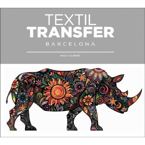 Obtisk na textil - RHINO - 10x5 cm