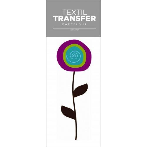 Obtisk na textil - FLOWER 60'S 1 - 10x20 cm