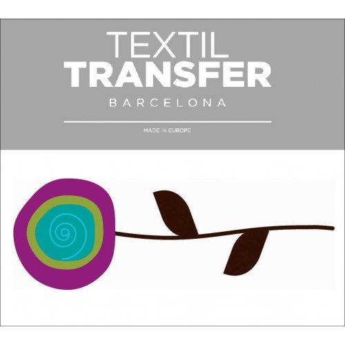 Obtisk na textil - FLOWER 60'S 1 - 10x5 cm