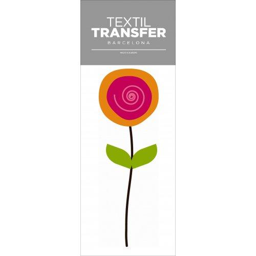 Obtisk na textil - FLOWER 60'S 2 - 10x20 cm