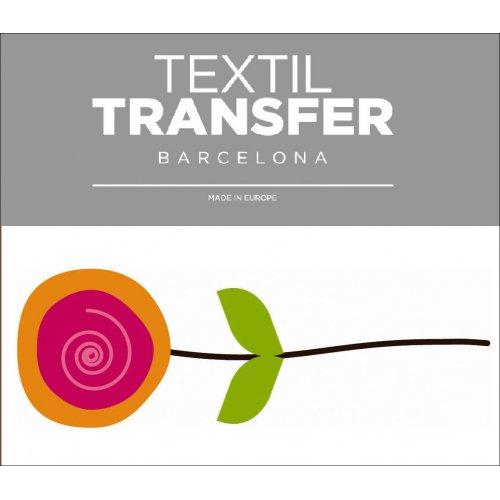Obtisk na textil - FLOWER 60'S 2 - 10x5 cm