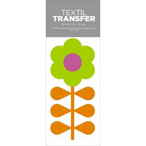 Obtisk na textil - FLOWER 60'S 6 - 10x20 cm