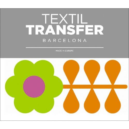 Obtisk na textil - FLOWER 60'S 6 - 10x5 cm