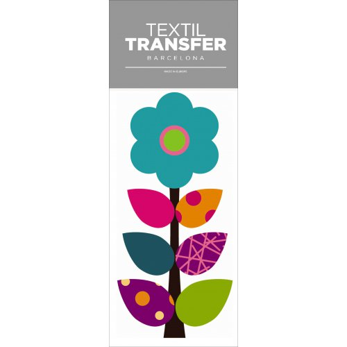 Obtisk na textil - FLOWER 60'S 8 - 10x20 cm